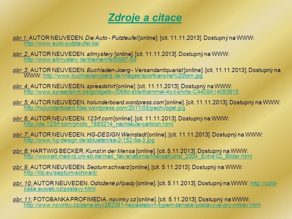 Zdroje a citace obr.1: AUTOR NEUVEDEN. Die Auto - Putzteufel [online]. [cit. 11.11.2013]. Dostupný na WWW: http://www.auto-putzteufel.de/
